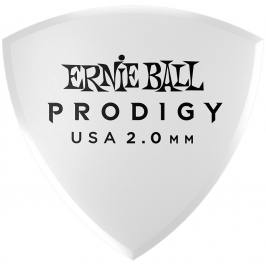 Ernie Ball Prodigy Picks 2.0 White Large Shield